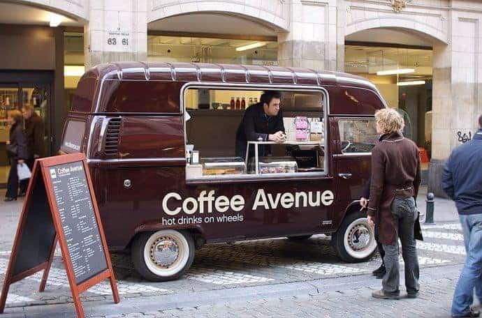 محل قهوة متنقل